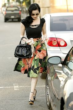 Dita Von Teese, I love how she has her ballet shoes