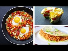 7 Healthy Egg Recipes For Weight Loss Breakfast Recipes video recipe Healthy Egg Recipes, Vegan Recipes Videos, Healthy Diet Plans, Healthy Eating, Healthy Salads, Healthy Food, Healthy Breakfast Muffins, Breakfast Recipes, Cooked Carrots