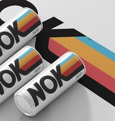 Candy Brophy Creative - Nok Energy Drink - World Brand Design Society / Nok Energy was developed to explore the energy drink category with a totally different feel that what's on the market. This modernist design concept was drawn from tech lines in Tech Branding, Branding Design, Line Branding, Logo Design, Design Lab, Typography Design, Graphic Design, Cool Packaging, Beverage Packaging