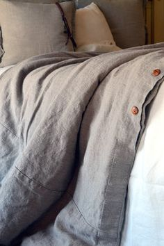 Natural Rustic Rough Heavy Weight Linen Duvet Cover / All sizes rustic duvet covers