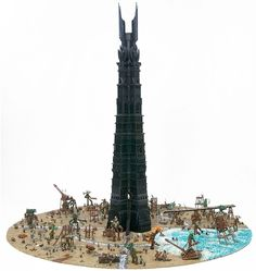 LEGO Lord of the Rings Tower http://thebrickblogger.com/2012/09/the-best-lego-lord-of-the-rings-dioramas/