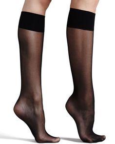 Premier Sheer Basic Knee-High Socks, Black by Commando at Neiman Marcus.