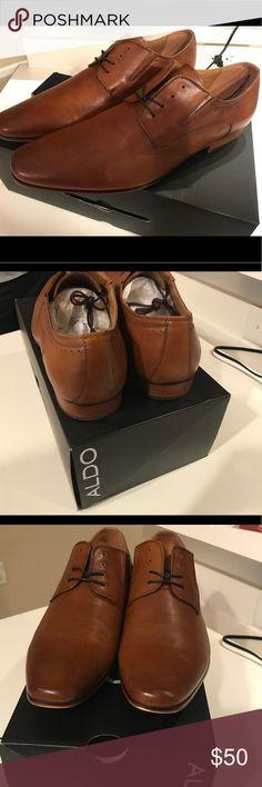Aldo Galensien Men dress shoes Size 11, cognac, Bronze, dress shoes, men Aldo Shoes Oxfords & Derbys