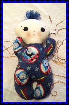 Handmade huggable baby doll safe for babies by MimiskidsTreasures