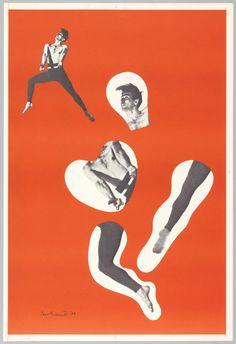 "Poster, ""Dancer on Orange Ground, after cover of magazine, Direction"", 1939"
