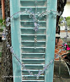 Lavender Crystal Heart Sun Catcher Garden by GardenWhimsiesByMary