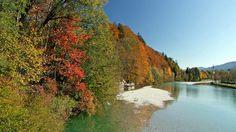 Herbstliche #Isar bei #BadTölz