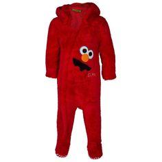 Sesame Street Elmo Coverall with Hood | BIG W