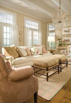 Feminine touches in living room | Unique By Design Ltd.
