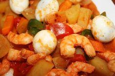 Shrimp caldereta