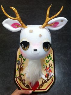 Plush Taxidermy Stag by Stitch of Whimsy