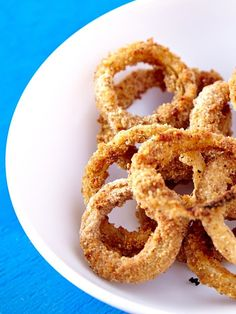 OMG Oven-Baked Vegan Onion Rings from Appetite for Reduction. These amazing dairy-free bites are indulgent, but lean and nutritious.