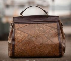 Patterned Leather Bag
