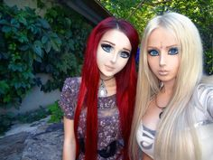"More than cosplay, Real-life dolls Anastasiya Shpagina ""Anime Girl"" Valeria Lukyanova ""Barbie Doll"" Anime Makeup, Doll Makeup, Sfx Makeup, Human Doll, Girly, Living Dolls, Fantasy Makeup, Plastic Surgery, Look Cool"