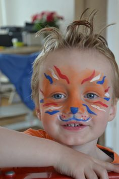 Koningsdag King Birthday, Kings Day, Face Painting Designs, Child Face, Creative Kids, Painting For Kids, Spring Crafts, Face Art, Fourth Of July