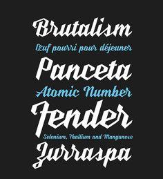 UT Nickel script on Typography Served