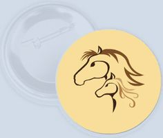 Placka s designem koní