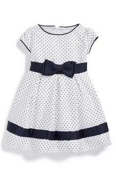 Dorissa Short Sleeve Pin Dot Dress (Baby Girls) available at #Nordstrom