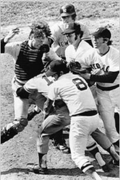 Fisk vs. his nemesis, Yankee catcher & captain,Thurman Munson.