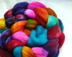 Super Wash Merino Roving Hand Dyed (HSMT02). $11.00, via Etsy.