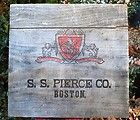 Antique Cigar Store Sign SS Pierce Old Primitive Early Wooden Orginal Trade Sign - ANTIQUE, Cigar, Early, ORGINAL, Pierce, PRIMITIVE, Sign, Store, TRADE, wooden