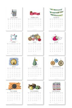 2012 Calendar Craft and Sewing Designs