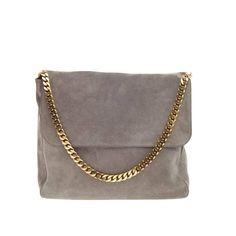 Celine Gourmette Shoulder Bag Suede Large | From a collection of rare vintage shoulder bags at https://www.1stdibs.com/fashion/handbags-purses-bags/shoulder-bags/