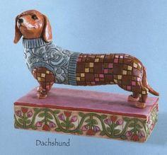 "Enesco Jim Shore Heartwood Creek ""Longfellow"" Dachshund Dog Figurine  want"