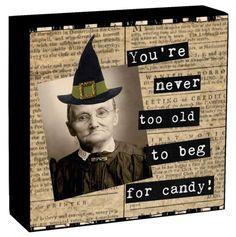 Cute Halloween Box Sign.