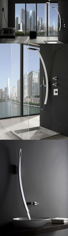 ♂ Masculine & elegance The Lunar Effect on Faucets Contemporary bathroom interior design From http://www.graff-faucets.com/