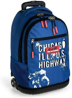 Busquets, Manga, Route 66, Backpacks, Interior, Products, Wheeled Backpacks, School Backpacks, Stretch Fabric