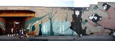 Nature Street Art - By far my favorite - so creative and I love the impact of minimal color used