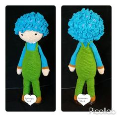 Crochet flower doll