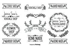 Hand Drawn Style Label Set