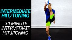 30 Minute Fat Burning Intermediate HIIT Workout with Light Dumbbells