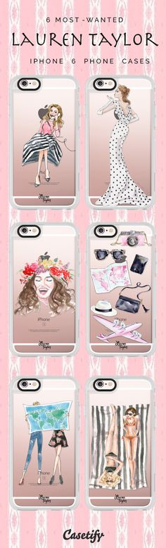Top 6 iPhone 6 protective phone case designs by Lauren Taylor | Click through to see more iPhone phone case idea >>> https://www.casetify.com/laurentaylorcreates/collection | @casetify