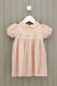 Little Bitty 12-18M Pink Scallop Collar Dress