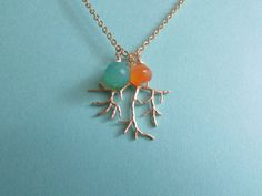 Coral Branch Necklace with Carnelian and by AshleyTorreyDesigns, $25.00