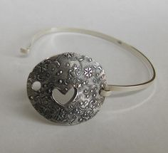 Anniversary Gift  Heart Inspired Oval Silver by SurfingSilver, $150.00