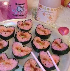 Image uploaded by ♡Joelle♡. Find images and videos about pink, food and drinks on We Heart It - the app to get lost in what you love. Japanese Snacks, Japanese Food, Japanese Candy, Cute Food, Yummy Food, Tout Rose, Think Food, Cute Desserts, Aesthetic Food