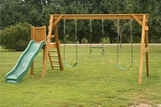 A Frame Swing Set Plans   free standing 3 position a frame swing n slide