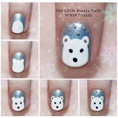 Step by step Christmas nail art