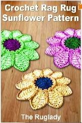 Crochet Rag Rug Sunflower Crochet Pattern
