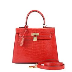 House Of Hello Women's Genuine Leather KL Style Lizard Grain Top-handle-bags Pearl Red 28CM House Of Hello http://www.amazon.com/dp/B00S9CI54E/ref=cm_sw_r_pi_dp_HVCPwb1W6J8E8