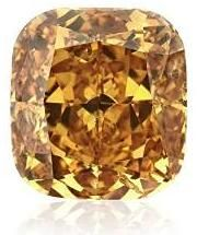 1.07Cts Fancy Deep Yellow Orange Loose #Diamond Natural Color Cushion Cut GIA