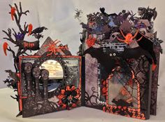 annes papercreations: Recollections spooky castle Halloween mini album