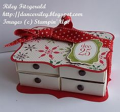 matchbox dresser. So cute. This looks to be the Stampin Up notebook die.
