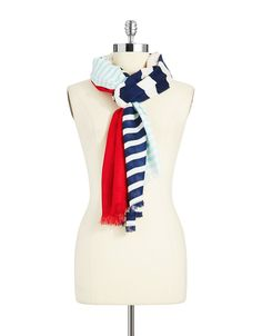 Monaco Stripe Scarf in Multicolor (Kate Spade; second-hand from Kind Exchange)