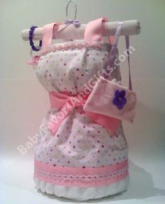 yes its made from diapers - girl diaper cakes