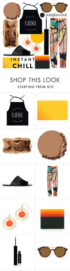 """Shades of Karma: Sunglass Hut Contest Entry"" by foundlostme ❤ liked on Polyvore featuring San Diego Hat Co., Urban Decay, ATP Atelier, Friendly Hunting, Liz Claiborne, mywalit, Givenchy, Giorgio Armani, colorful and shadesofyou"